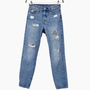 Levi's Wedgie Icon Fit Jeans Distressed Partner In Crime High Rise 22861-0024 25